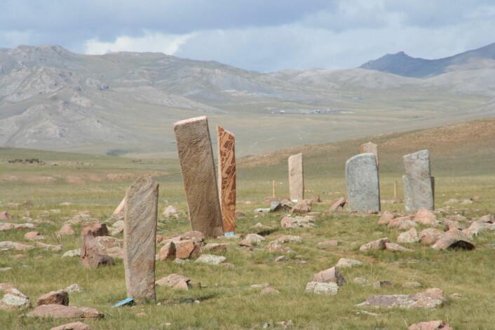 Hjortesteiner i Mongolia. (Foto: Aloxe/FAL)