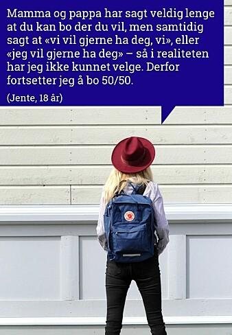 Slik forteller barn og ungdom om delt bosted. Bildeserien er laget av Institutt for samfunnsforskning.