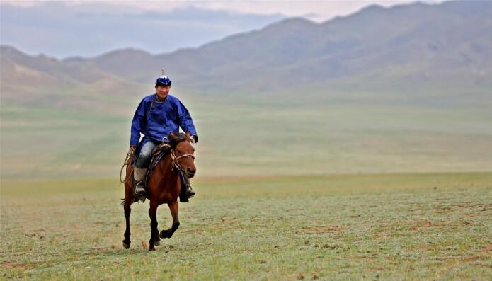 Hesten er en viktig del av den mongolske tradisjonen også i dag. (Foto: PD Tillmann/Wikimedia Commons CC 2.0)