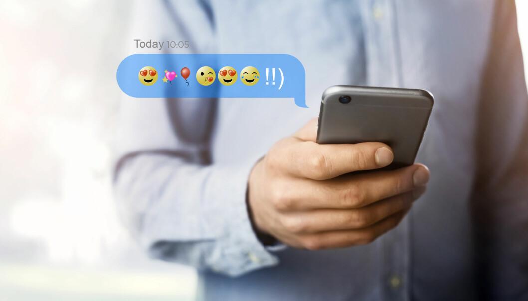 – Når mange bruker positive emojier i omtalen av en sykdom, blir stemningen god blant flere, mener forsker. (Illustrasjonsfoto: pikcha / Shutterstock / NTB scanpix)