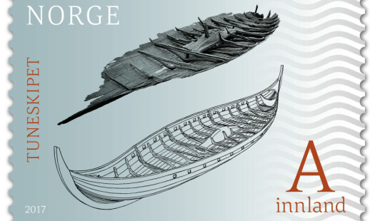 Vikingskip, forskning og frimerker