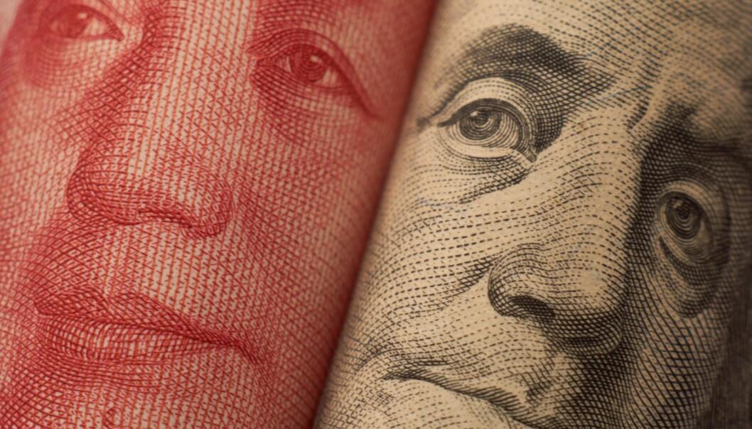 USAs økonomiske makt utfordres av Kina. Er de to landene på vei mot konflikt? (Foto: rustamxakim / Shutterstock / NTB scanpix)