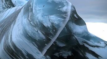 Isfjell har snudd seg: Se de fantastiske bildene av «krystallpalasset»
