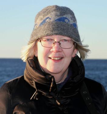 Vigdis Tverberg har forsket på vannet i Kongsfjorden. (Foto: Per Jarl Elle/Nord universitet)