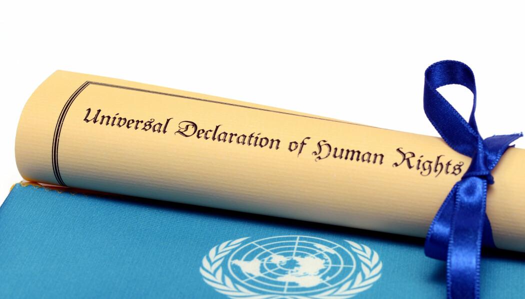FNs Verdenserklæring om menneskerettighetene var det første dokumentet som forsøkte å sikre like rettigheter for alle mennesker i verden. (Foto: corgarashu / Shutterstock / NTB scanpix)