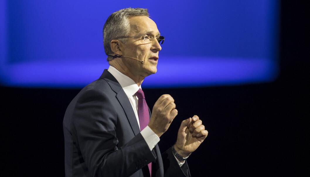 NATO ledes i dag av Norges tidligere statsminister Jens Stoltenberg. Han har flere ganger uttrykt støtte til den amerikanske presidentens krav om at de andre medlemslandene må bidra mer. (Foto: Vidar Ruud / NTB scanpix)