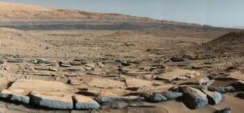 I flere år har robotbilen Curiosity kjørt rundt på Mars og sendt bilder (slik som dette fra foten av Mount Sharp) hjem til jorden. Robotbilen utfører også målinger, og ifølge Scientific American har data fra Curiosity blant annet vist en god match med analyser av en berømt meteoritt (Allan Hills 84001). (Foto: NASA)