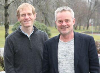 Lars Kyte (t.v.) og Ole Kleiven er to av forskarane bak undersøkinga. (Foto: Hans Jakob Reite/Høgskulen på Vestlandet)