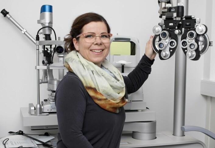 Gro Horgen Vikesdal er forsker ved Institutt for optometri, radiografi og lysdesign på Høgskolen i Sørøst-Norge. (Foto: Høgskolen i Sørøst-Norge)