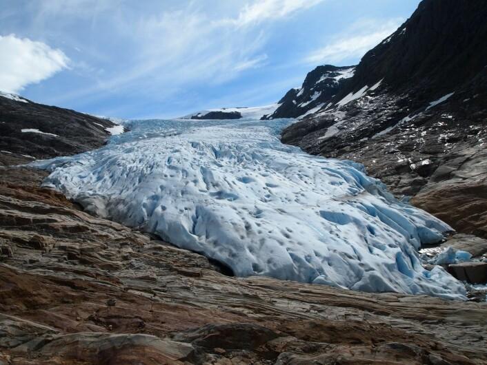 The glacier tongue. (Foto: Photo: Paul Weber)