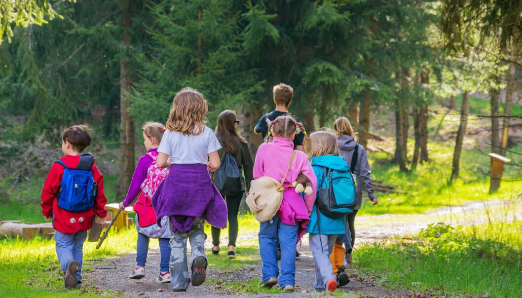 Får barna færre allergier i en friluftsbarnehage?