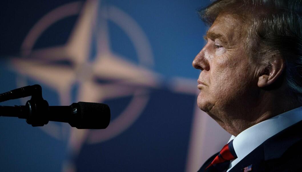 Amerikanske krav om at europeiske NATO-land bør bidra mer er ikke et fenomen som oppstod med Donald Trump. Også Barack Obama irriterte seg over land som han oppfattet som gratispassasjerer, ifølge forsker. (Foto: AFP / NTB Scanpix)