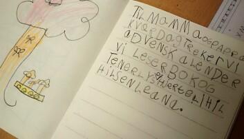 Førsteklassen ved Vaulen er blant de få som jobber med kommuniserende tekster så tidlig. (Foto: Elisabeth Rongved)
