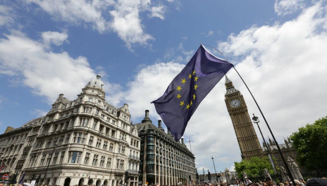 Hvis Storbritannia velger å forlate EU uten en avtale, kan det få store konsekvenser for norske forskere. (Foto: Paul Hackett / Reuters / NTB scanpix)