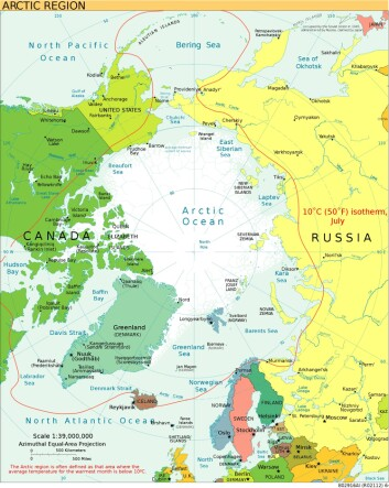 Polhavet. Klikk på kartet for større versjon. (Foto: (Kart: CIA World Factbook, Wikimedia Commons))