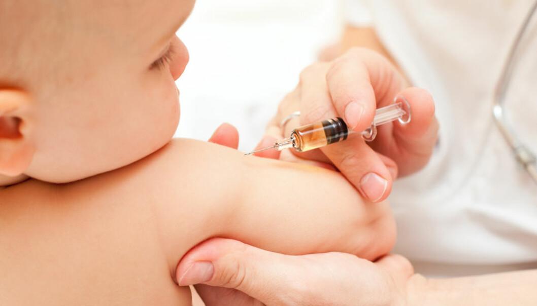 I noen fylker er det for få barn som har fått to doser med MMR-vaksine mot meslinger, røde hunder og kusma, melder Folkehelseinstituttet.  (Illustrasjonsfoto: Microstock/Scanpix)