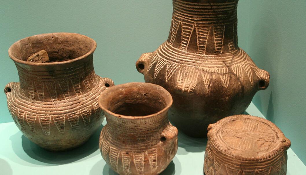 Disse keramiske karene er noe av det vi har igjen av den snorkeramiske kulturen. (Foto: Einsamer Schütze/CC BY-SA 3.0)