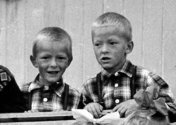 Tvillingene er i bursdag, Tor til venstre og Bjørn til høyre. Bildet er tatt da guttene var i seksårsalderen. (Foto: Privat)