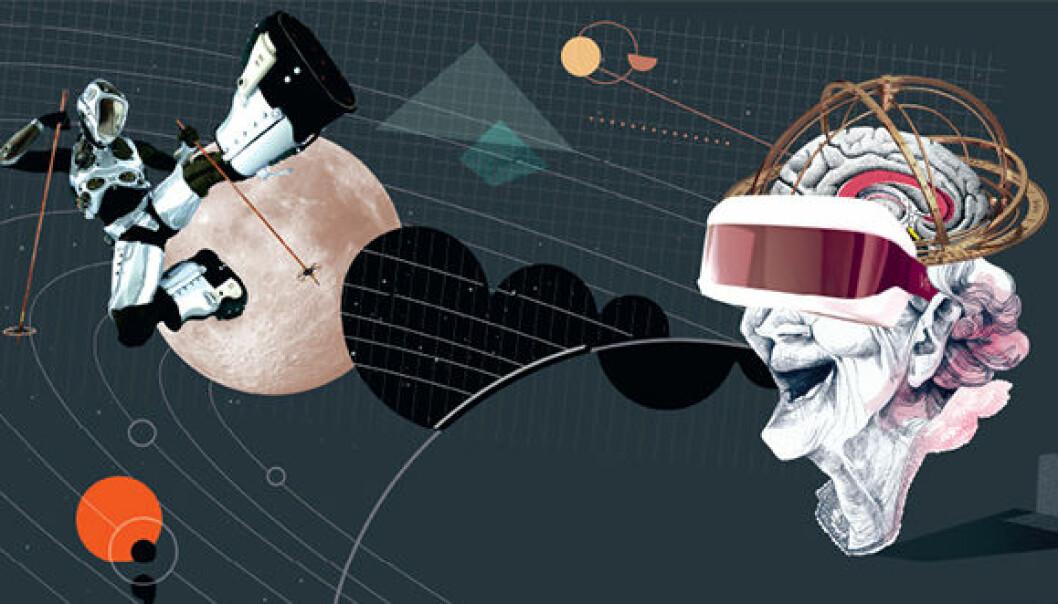 Nyvinninger innen det man kan kalle kognitiv forbedringsteknologi, som for eksempel VR-briller,kan snart bli en del av hverdagen for mange. (Foto: HiOA)