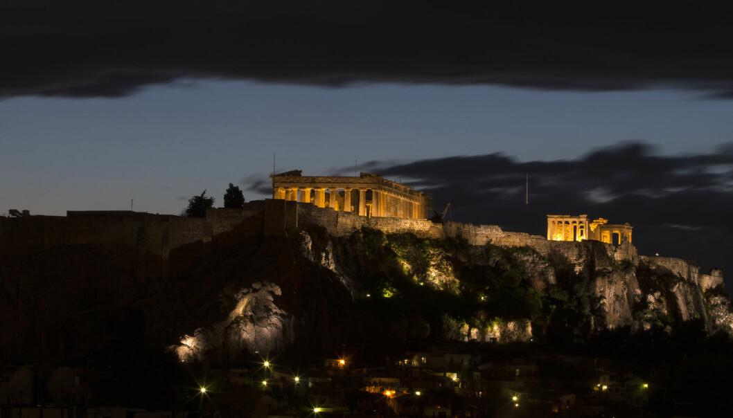 «Akropolis er ikke bare et monument til verdens kulturelle arv, men et symbol for hele menneskeheten som ikke kan være del av handelstransaksjoner», skriver de greske myndighetene i sitt nei til motekonsernet Gucci. (Foto: Marko Djurica / NTB scanpix)