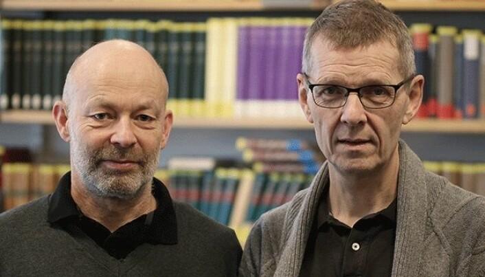 Jon Vidar Sigurðsson og Hans Jacob Orning er begge professor i historie ved Universitetet i Oslo. (Foto: Fillip-André Baarøy)