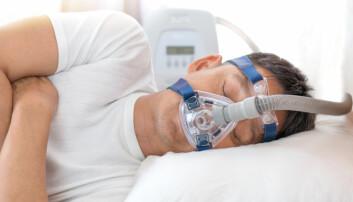Halvparten av deltakerne i forskningsprosjektet skal sove med utstyr som øker lufttrykket i luftveiene under søvn, en CPAP-maskin (continuous positive airway pressure. (Illustrasjonsfoto: Shutterstock, NTB scanpix)