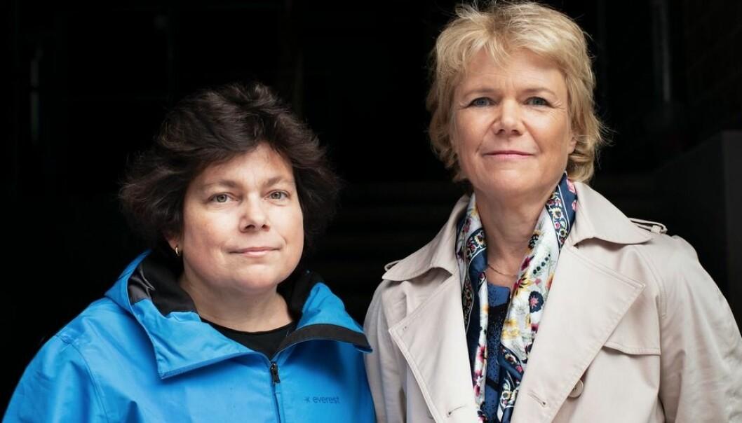 «Når sanhet blir til løgn» er ført i pennen av Harriet Wallberg (til høyre) og Kristina Appelqvist. Appelqvist var taleskriver for Wallberg blant annet i tida hun var KI-rektor. (Foto: Sofia Runarsdottir)