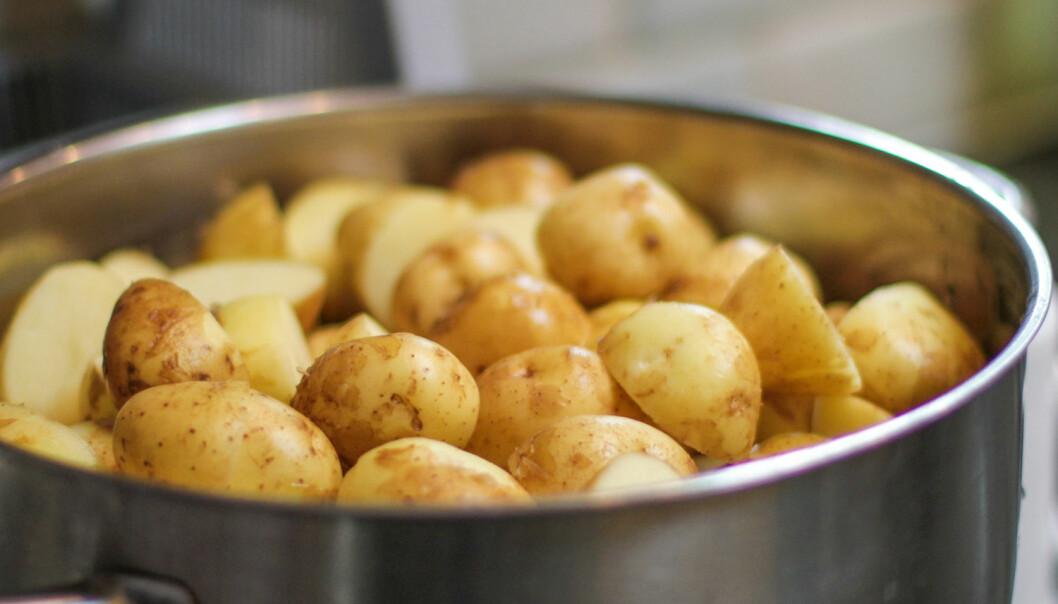 Gjenoppvarmede poteter er sunnere enn nykokte