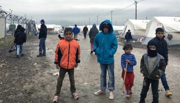 2,5 millioner syriske barn får ikke opplæring i arabisk på grunn av konflikten i hjemlandet deres. Her fra en flyktningleir i Tyrkia. (Foto: Alf Inge Wang/NTNU)