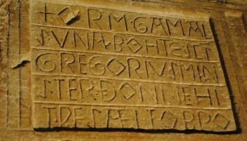 Hvordan skrev folk for 1000 år siden?