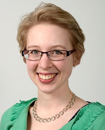 Doktorgradsstudent Meghan Bradway sier at brukerlogger gir bedre data. (Foto: Rune S. Bertinussen)