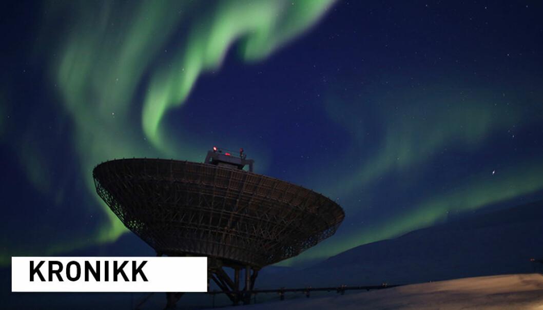 I Norge har vi EISCAT-radarene, et ekstremt godt og sensitivt radaranlegg som har blitt brukt i en årrekke for å studere nordlyset. Disse kan også brukes i kampen mot romsøppelet. (Foto: Anja Strømme / UNIS)