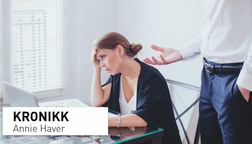 – Siden usunne arbeidsmiljøer får store konsekvenser bør man være ekstra nøye når man rekrutterer ledere. Man bør også sørge for at ledere blir veiledet på en god måte, skriver kronikkforfatteren. (Illustrasjonsfoto: Shutterstock / NTB scanpix)