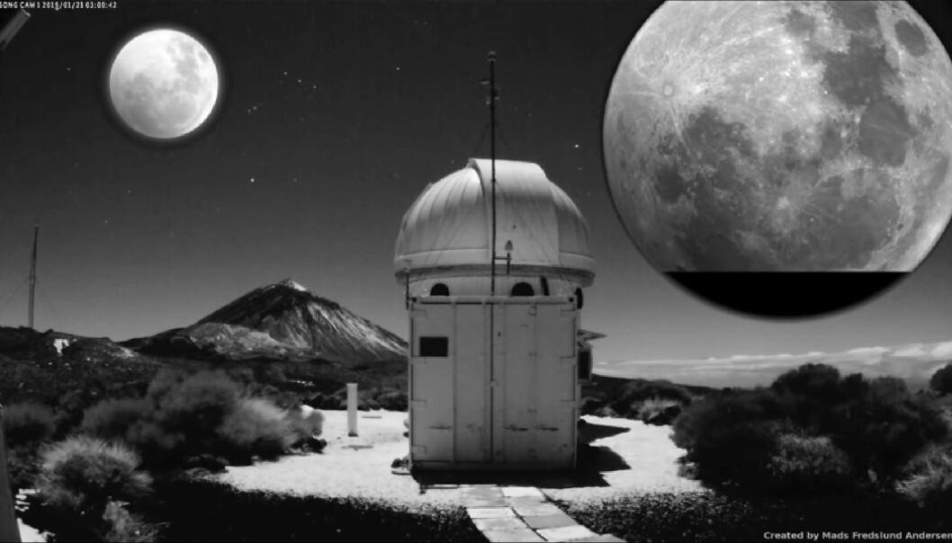 Vakker video: Teleskop har fanget måneformørkelsen