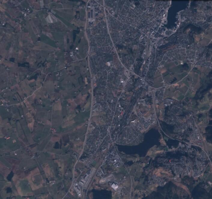Enda et bilde fra Rogaland, sett fra Sentinel-2A den 7. mars. (Bilde: Copernicus Sentinel data 2017)