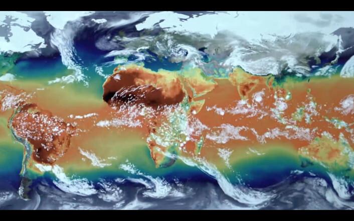 Havstrømmer, temperaturer og målinger av andre geofysiske krefter ligger inne i de store internasjonale klimamodeller, men presisjonen vil alltid kunne forbedres. (Foto: NASA)