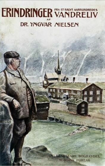 Omslagsillustrasjonen til Yngvar Nielsens erindringsbok er laget av Gudmund Stenersen. Boka kom ut i 1909 på Gyldendalske Boghandel Nordisk Forlag, København og Kristiania.