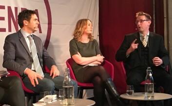 Sylo Taraku (t.v), Åsa Linderborg og Asle Toje møttes da Tankesmien Agenda og Europabevegelsen inviterte til debattom populisme i Europa. (Foto: (Fotos. Siw Ellen Jakobsen))
