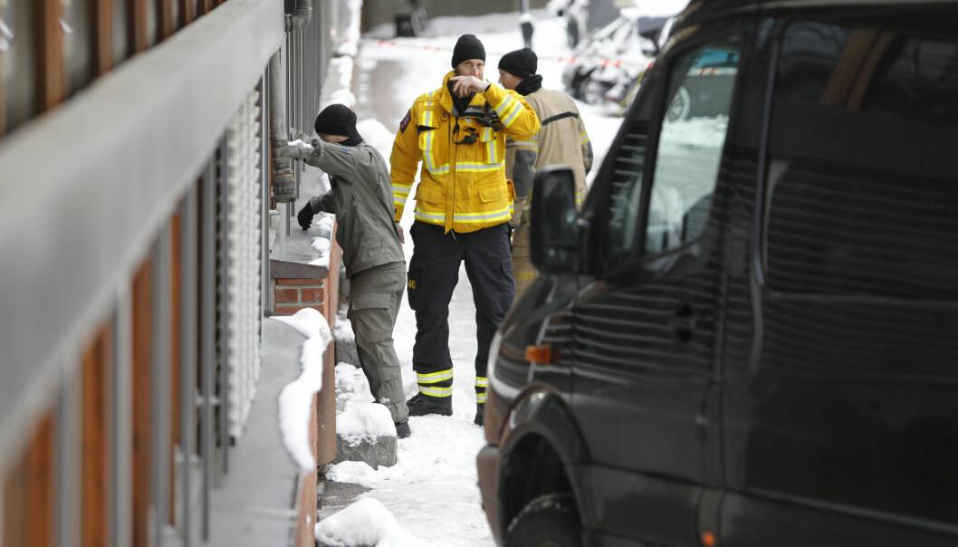 Politiet rykket tirsdag formiddag ut til Universitetet i Oslo etter at det ble mottatt brev med mistenkelig pulver. (Foto: Ole Berg-Rusten / NTB scanpix)