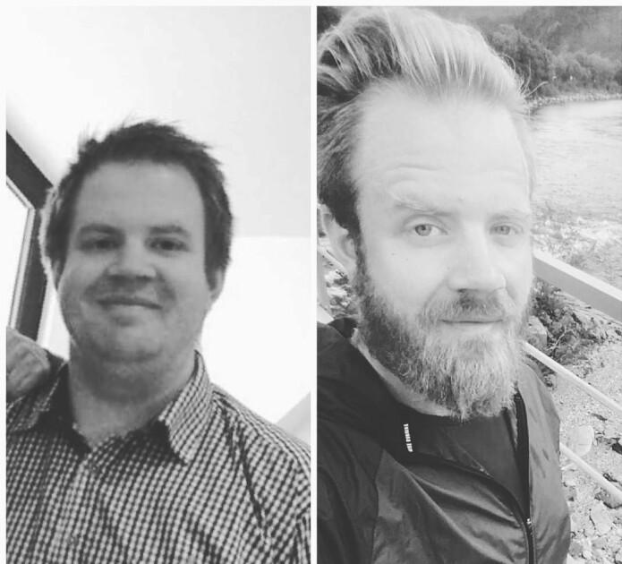 Slik så Melby ut før og etter at han ble med i Eurofit i 2016. (Foto: privat)