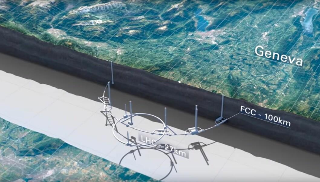CERN vil bygge ny partikkel-akselerator som er fire ganger større og ti ganger kraftigere