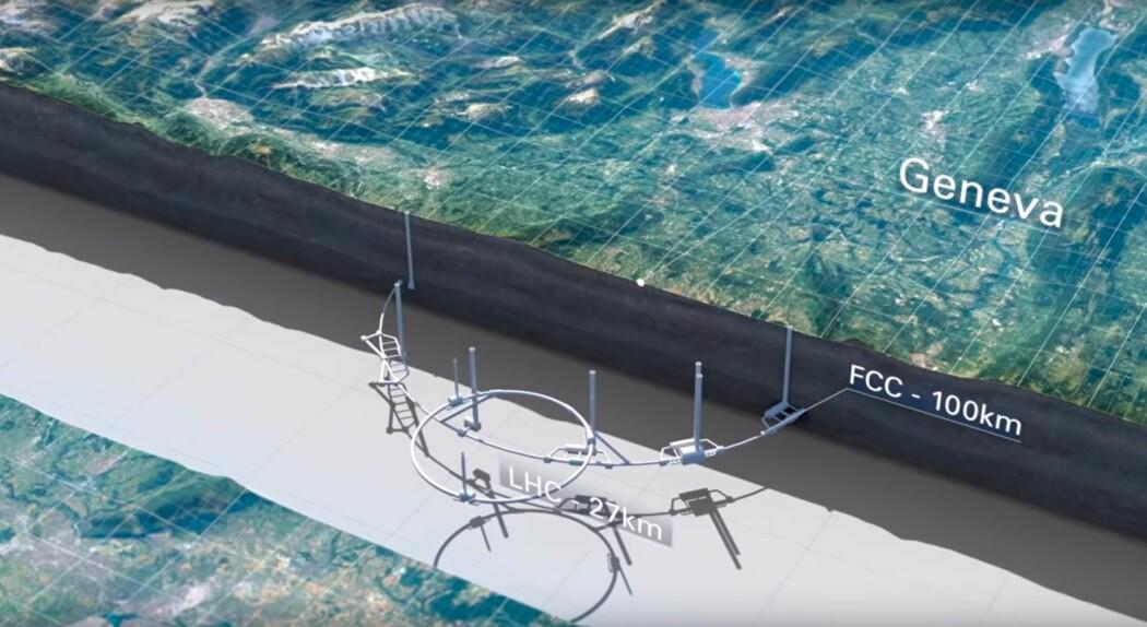 CERNs framstilling av det nye designkonseptet (Skjermbilde: CERN)