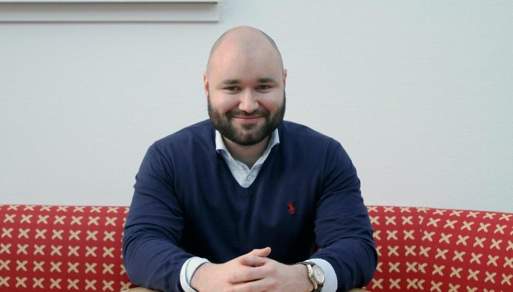 Førsteamanuensis Kristian Støre får pris for vitenskapelig artikkel om fagområdet finans. (Foto: Per Jarl Elle)