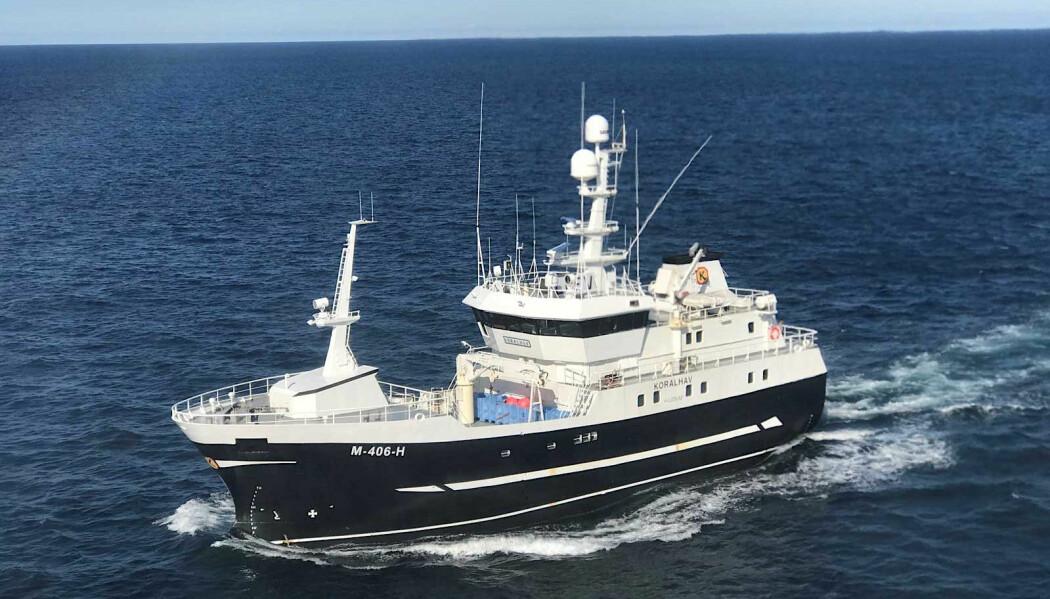 Fiskebåten Koralhav er et av fartøyene som testet ut de nye kartene over havbunnen. (Foto: fiskebat.no)