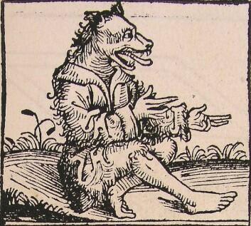 Var det ulveaktige mennesket et slags ikke-menneskelig monster. Bildet er fra Nürnbergkrøniken skrevet av den tyske legen Hartmann Schedel i 1493.