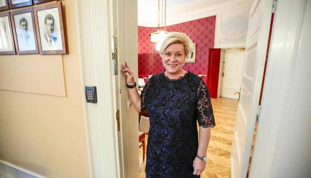 Finansminister Siv Jensen er fornøyd med ordningen. (Foto: Lise Åserud / NTB scanpix)
