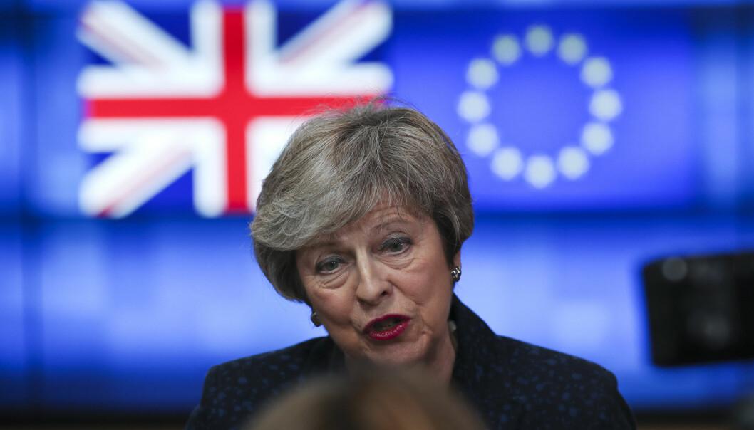 Storbritannias statsminister Theresa May har ikke lykkes med å få Parlamentet med på skilsmisseavtalen hun har forhandlet fram med EU. (Foto: Francisco Seco / AP / NTB scanpix)