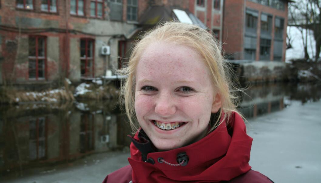 Ida Frøyland (13 år) er forskning.nos nye ungdomsreporter. (Foto: Eivind Nicolai Lauritsen)