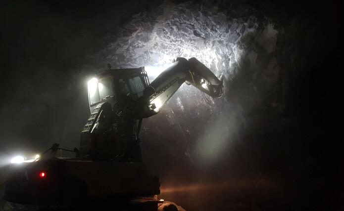 Under tunnelarbeidene i Sandvika graves det ut store mengder kambrosilurstein. (Foto: Elin T. Sørensen / BONO)