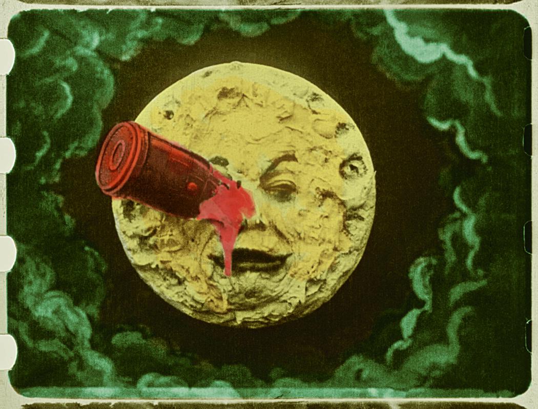 """Bilde av mannen i månen fra filmen """"En reise til månen"""" fra 1902. (Bilde: Lobster-Fondation Groupama Gan-Fondation Technicolor)"""